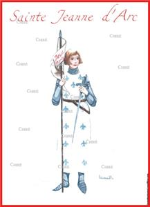 Jeanne d´Arc - Sainte - Aquarelle