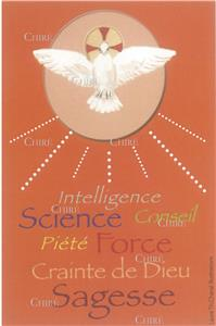 Image de confirmation - Intelligence - Science - Conseil - Piété - Force - Crainte de Dieu - Sagesse (orange)